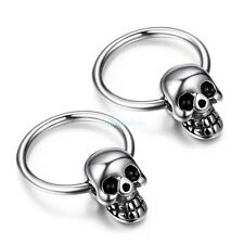 Fashion Punk Style Stainless Steel Skull Boy's Men's Huggie Earrings Cool Look