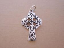 925 argento Sterling gaelico scozzese, croce celtica sopra