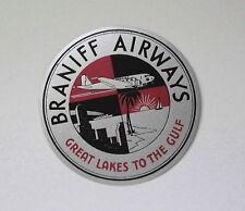 Vintage Braniff Airways Airline Luggage Baggage Label