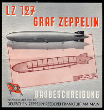 Graf Zeppelin (1928-1937) 3 page folded leaflet - Showing construction (Scarce)