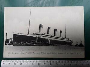 White Star Line RMS Olympic photographic print original PC - Titanic interest