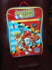 "Nickelodeon Calling All Pups Paw Control 16"" Rolling Luggage Kids  W/Handle NEW"