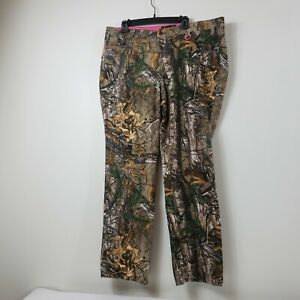 Realtree Womens Hunting Camouflage Pants Size 18 Straight Leg High Rise