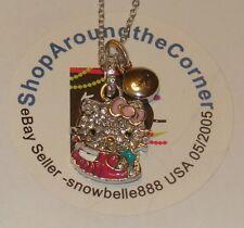 HELLO KITTY ZODIAC SCORPIO Sterling Silver Pave Crystal Enamel Pendant Necklace