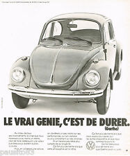 PUBLICITE ADVERTISING 065  1974  VOLKSWAGEN  la COCCINELLE DURER  par GOETHE 2