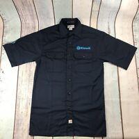 CARHARTT Workwear Men's SMALL Short Sleeve Shirt Blue
