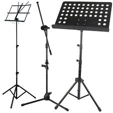 More details for height adjustable orchestral music book/mic/paper holder tripod stand &carry bag