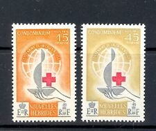 FRENCH NEW HEBRIDES SG F 108-9 1963 RED CROSS PAIR.  MNH