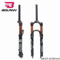 """Heiß BOLANY Luft Federgabel MTB Mountainbike 26""""27.5"""" 29""""100mm 1-1/8 Threadless"""