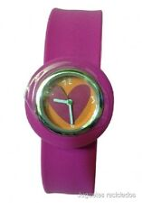 RELOJ AGATHA RUIZ DE LA PRADA FUCSIA SLAP ON WATCH MANUAL ANALOGICO NUEVO CAJA