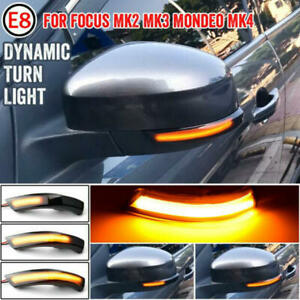 Flowing LED Dynamic Turn Signal Light For FORD Focus mk2 mk3 08-17 Mondeo mk4
