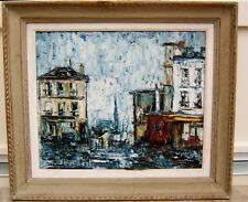 ancien tableau vue rue parisienne signature à identifier J.boyaert ? date 1963