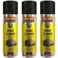 3 x Hycote Brake Cleaner Spray Disc Clutch Parts Degreaser Remover Aerosol 600ml
