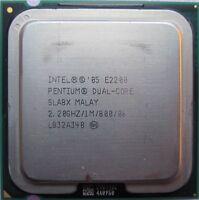Intel Pentium Dual Core 2.20 GHz 1M 800 Mhz CPU E2200 LGA 775 Processor SLA8X