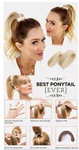 ❤️❤️❤️ New Beige Best Ponytail Pony Hair Ring Tie Clip ❤️❤️❤️