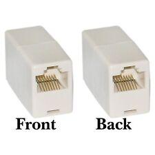 Coupleur RJ45 8P8C Ethernet reseau LAN Cable Extender Adaptateur, Couleur: Blan