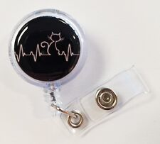 Cat Lovers, Cat Lifeline. Retractable Badge Name Tag ID Holder 3D