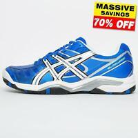 Asics Gel Challenger 9 Men's Premium Tennis Shoes Court Trainers Blue