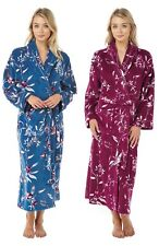 New Women's Fleece Peacock Bird Design Luxury Xmas Gift Dressing Gown House Coat