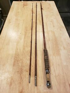 Vintage South Bend 3 piece bamboo fishing rod