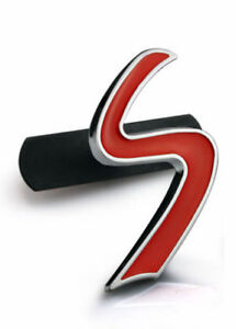 RED-MINI-COOPER-S-GRILL-GRILLE-FRONT-BADGE-EMBLEM-CUSTOM-UPGRADE-JCW-FITS-MINI