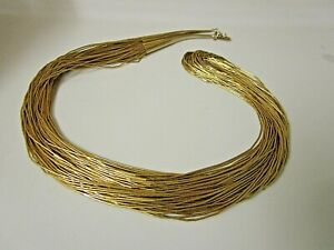 """Vintage Sterling With Gold Wash Liquid Silver. 30 Strands. 30"""""""