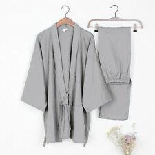 Hombre kimono japonés yukata ALGODÓN Albornoz Vestido Pijama recién
