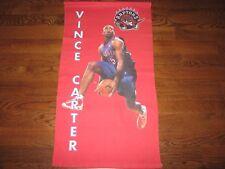 VINTAGE 36 x 20 VINCE CARTER POSTER TOWEL OLD SCHOOL Slam Dunk Toronto Raptors