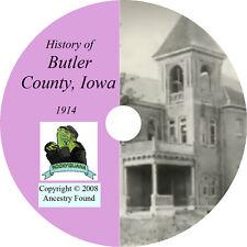1914 BUTLER County Iowa IA, - History & Genealogy - Allison - CD DVD