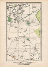 1923 LONDON STREET MAP - SOUTHALL, HESTON,SUTTON,NORWOOD GREEN