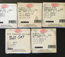 "5-Reed Pipe Plastic Threader Block Dies-Set-4x4""-2SPP3/4,1/2,1,1 1/4,2"