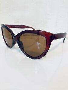OVERSIZED CAT EYE Women's Brown Framed Retro Y2K Deadstock Sunglasses