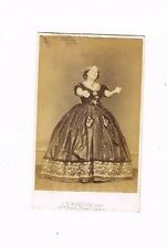OLD CDV PHOTO OPERA SINGER ? F.R WINDOW STUDIO BAKER STREET LONDON 1860S (935)