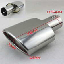 DIY Durable Chrome Stainless Steel Car Oval Single Exhaust Tail Pipe Tip OD 54MM
