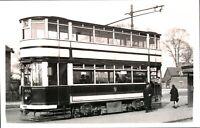Original real photograph Tram Birmingham 698 tramcar vintage circa 1940