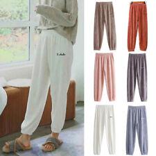 Women's Flannel Pajamas Plush Thick Homewear Long Pants Sleepwear SWarm