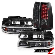 99-02 Chevy Silverado 1500 2500 HD [BRIGHT LED TECH] Smoke Tail Light  Headlamps