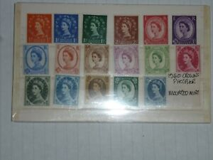 GB STAMPS 1960 CROWNS PHOSPHOR, MOUNTED MINT