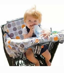 NEW Lumiere 2-in-1 Shopping Cart Highchair Cover, Cup Strap, Toy Loops, Padded