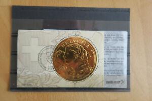 Schweiz Goldvreneli Ersttag mit Zertifikat
