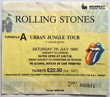 Rolling Stones Original Used Concert Ticket Wembley Stadium London 7th July 1990