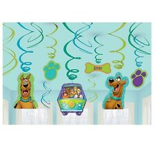 Scooby Doo Party Supplies Foil Swirl Decorations 12ct