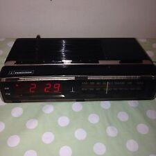 Vintage Retro Black FERGUSON Digital Alarm Clock Radio Rare Collectable Mod 3197