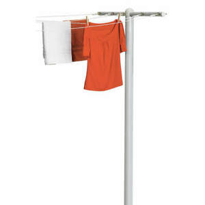 HONEY-CAN-DO DRY-01452 T-Post Dryer, 5-Line,45-3/4x3x72 In.