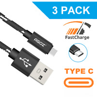 3 Pack USB C Cable FAST Charger Type-C Data Sync Cord for Samsung Galaxy Phones