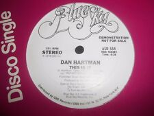 "DAN HARTMAN "" THIS IS IT "" 12"" DEMO VINYL EXCELLENT ASD 554 ( 1978 )"