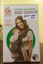 ergobaby Organic Cotton Fabric Baby Carrier - Dark Cocoa - New (open box) *Read*