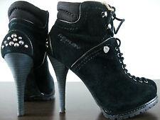 Replay señora botín rp320016l señora botas de cuero ankleboots tachuelas talla 35 nuevo