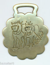 SHIRES & PLOUGH  Larger-sized horse brass  (4887)