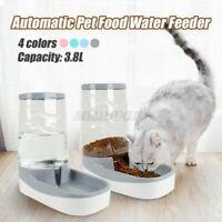 3.8L Groß Automatisch Futterspender Haustier Essen Trinken Spender Hund Katze
